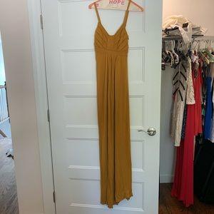 Fall maxi dress in mustard